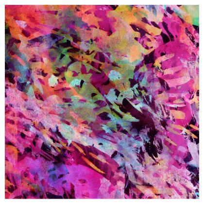 Zip Top Handbag Watercolor Texture 14