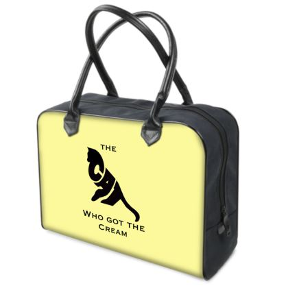 Yellow Luxury Holdall - The Cat Who Got The Cream