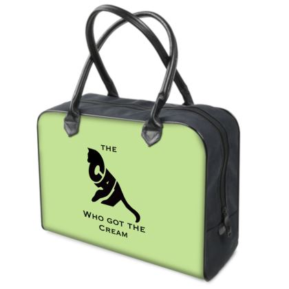 Green Luxury Holdall - The Cat Who Got The Cream