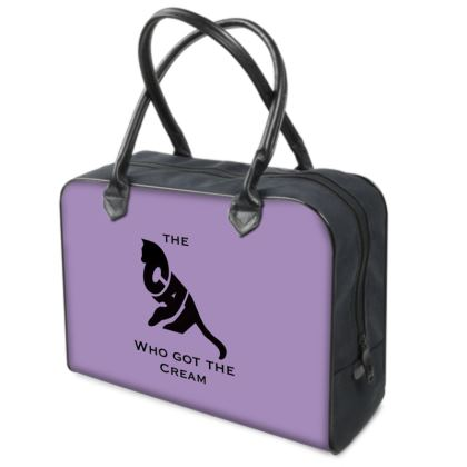 Purple Luxury Holdall - The Cat Who Got The Cream