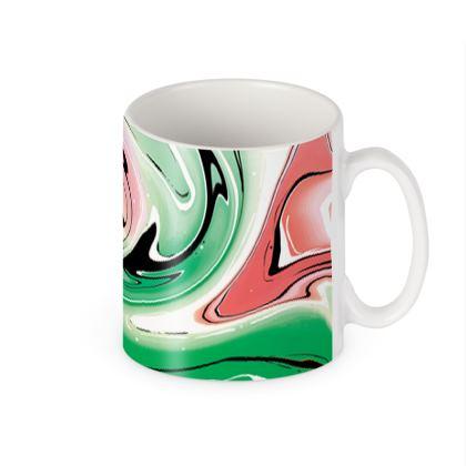Builders Mugs - Multicolour Swirling Marble Pattern 1 of 12