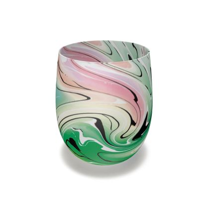 Water Glass - Multicolour Swirling Marble Pattern 1 of 12
