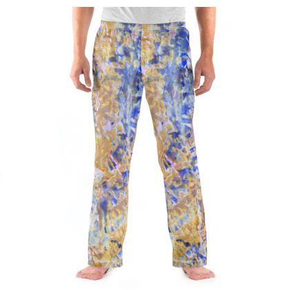 Mens Pyjama Bottoms Watercolor Texture 01