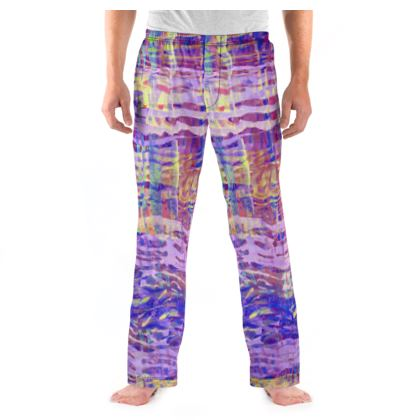 Mens Pyjama Bottoms Watercolor Texture 2