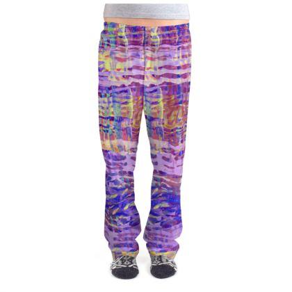 Ladies Pyjama Bottoms Watercolor Texture 2