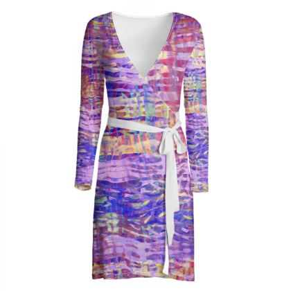 Wrap Dress Watercolor Texture 1