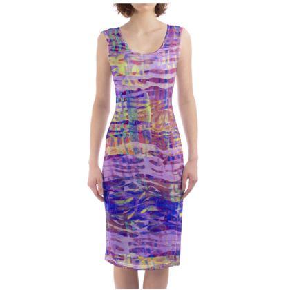 Bodycon Dress Watercolor Texture