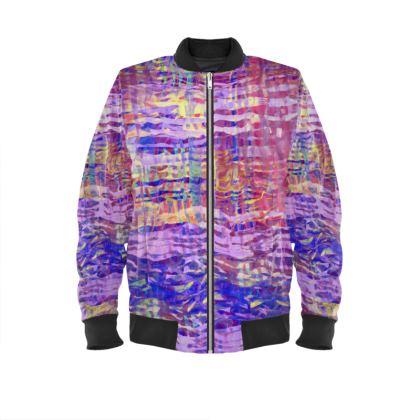 Mens Bomber Jacket Watercolor Texture 1