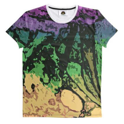 All Over Print T Shirt - The Waterfall (1909) Abstract