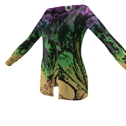 Ladies Cardigan With Pockets - The Waterfall (1909) Abstract