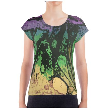 Ladies T Shirt - The Waterfall (1909) Abstract