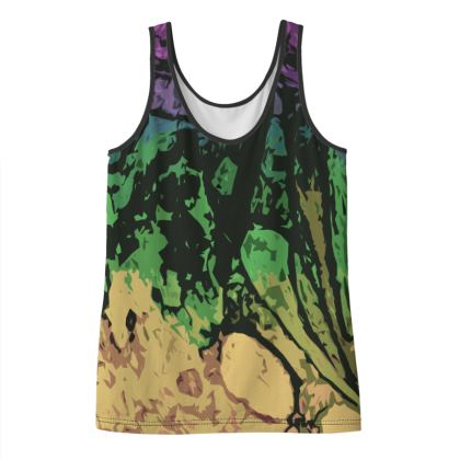 Ladies Vest Top - The Waterfall (1909) Abstract