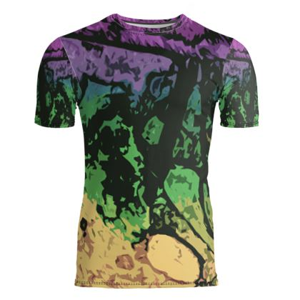Slim Fit Mens T-Shirt - The Waterfall (1909) Abstract