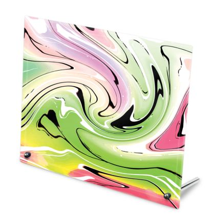Glass Frame - Multicolour Swirling Marble Pattern 2 of 12