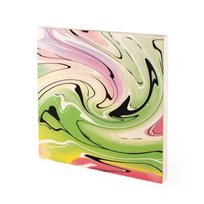 Wood Prints - Multicolour Swirling Marble Pattern 2 of 12