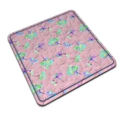 Leather Coasters My Sweet Pea Soft Pink             a