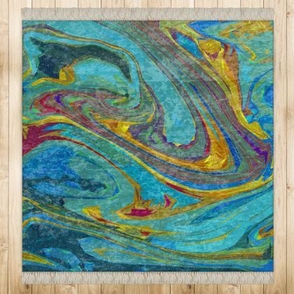 Medium Rug (128x128cm) - Abstract Diesel Rainbow 1