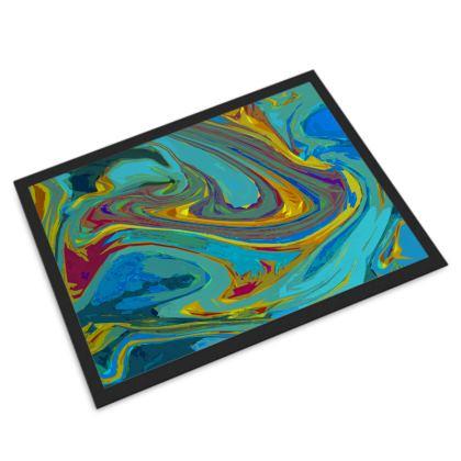 Door Mat - Abstract Diesel Rainbow 1