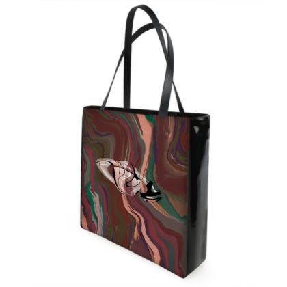 Beach Bag - Colours of Saturn Marble Pattern 1