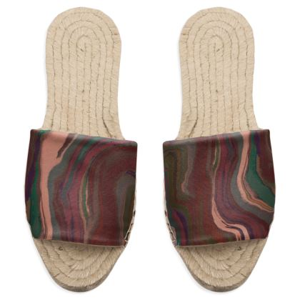 Sandal Espadrilles - Colours of Saturn Marble Pattern 1