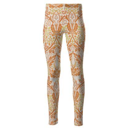 High Waisted Leggings - William Morris' Golden Bough Remaster