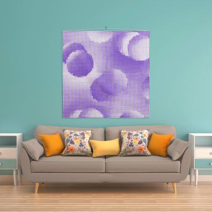 Wall Hanging - Endleaves of Art. Taste. Beauty (1932) Purple Remix