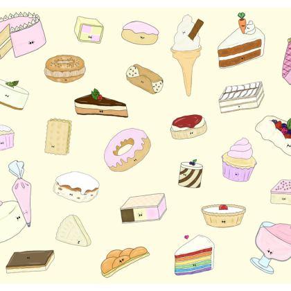 'Flirty Desserty' Coasters