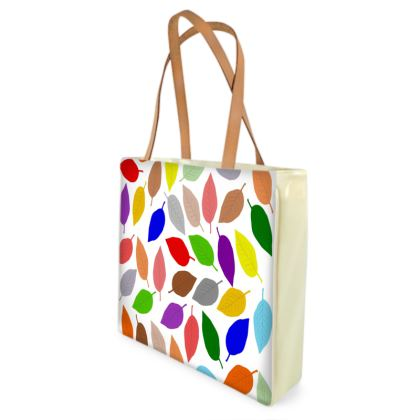 Shopping Bag Multi Coloured Leaves