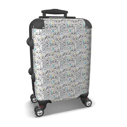 Cat-face Print Suitcase