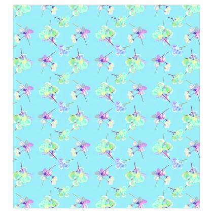 Curtains My Sweet Pea Treat in Turquoise