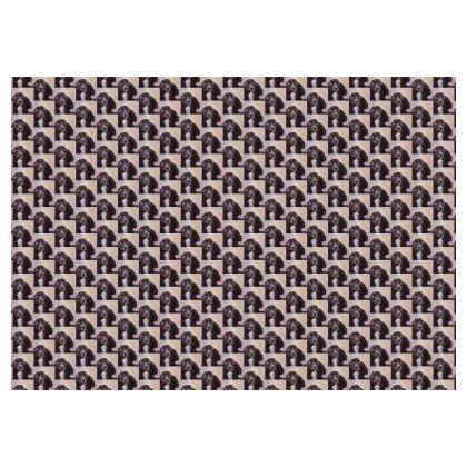 Monty the Spaniel Fine Art Print Skirt by Somerset (UK) Artist and Designer Amanda Boorman