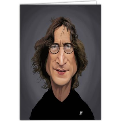 John Lennon Celebrity Caricature Occasions Cards