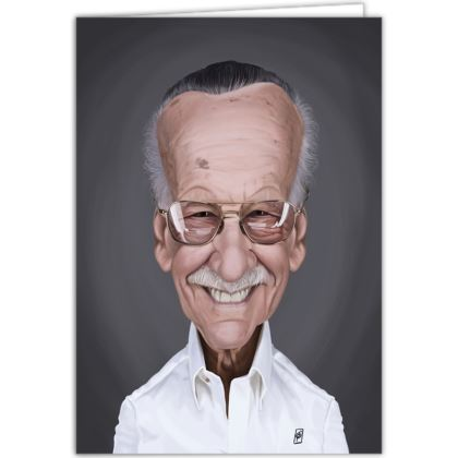 Stan Lee Celebrity Caricature Occasions Cards