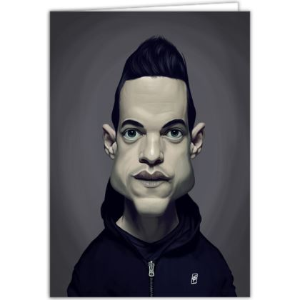 Rami Malek Celebrity Caricature Occasions Cards