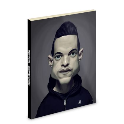 Rami Malek Celebrity Caricature Pocket Note Book