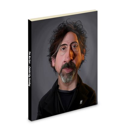 Tim Burton Celebrity Caricature Pocket Note Book