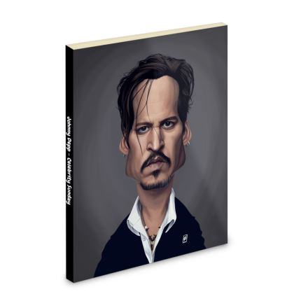 Johnny Depp Celebrity Caricature Pocket Note Book