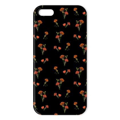 Petite Frilly Flower Print iPhone SE/5/5S Case