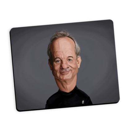 Bill Murray Celebrity Caricature Mouse Mat