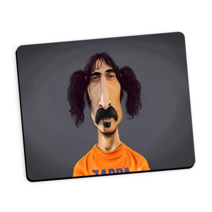 Frank Zappa Celebrity Caricature Mouse Mat
