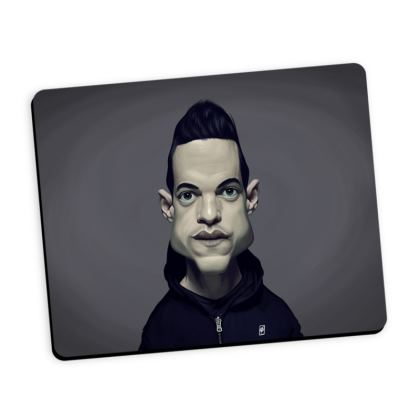 Rami Malek Celebrity Caricature Mouse Mat