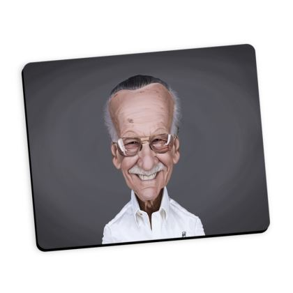 Stan Lee Celebrity Caricature Mouse Mat
