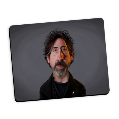 Tim Burton Celebrity Caricature Mouse Mat