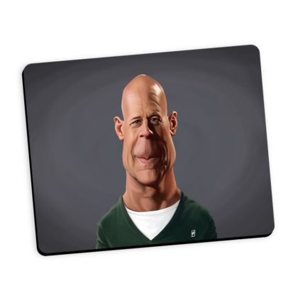 Bruce Willis Celebrity Caricature Mouse Mat