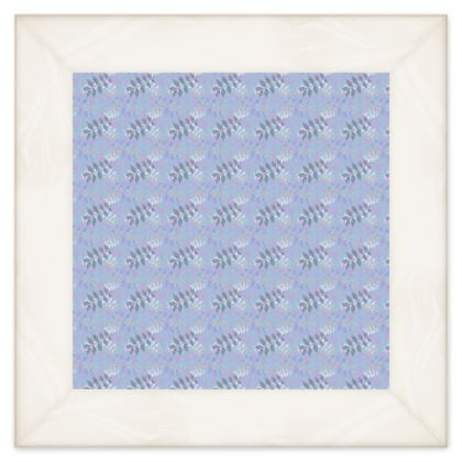 Blue, White  Quilts Etched Leaves  Blue Glade