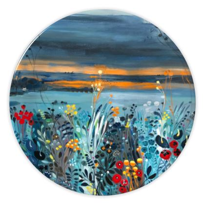 China Plates in Setting Sun design by Natalie Rymer