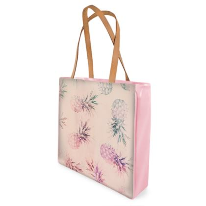 Pastel Pineapple Watercolour Beach Bag