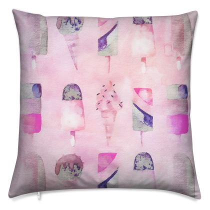 Ice Cream Watercolour Cushion