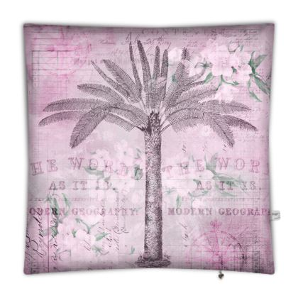 Vintage Travel Palm Tree Floor cushion