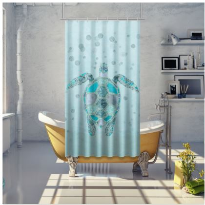 Glamorous Sea Turtle Shower Curtain